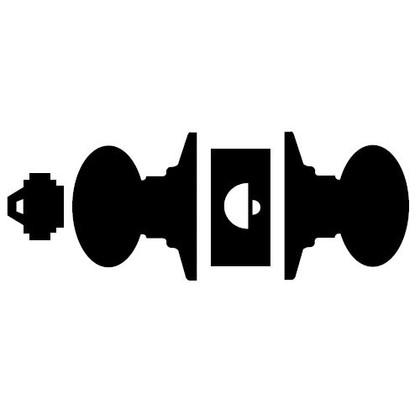 Schlage D60PD ORB 613 Vestibule Knob