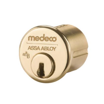 Medeco 10T5100-05-DLT-Z01-KD M3 Series 1 3/8'' Bright Brass Mortise Cylinder
