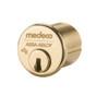 """1-1/8"""" Medeco 10-0200-605 High Security Mortise Cylinder Polished Brass"""