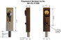 R1000 Revolving Door & Sliding Door Drop Bolt Lock by Progressive Hardware Dimension