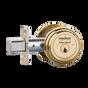 """Medeco M3 11TR504 2-3/4"""" Backset Maxum Residential Single Cylinder Deadbolt Bright Brass"""