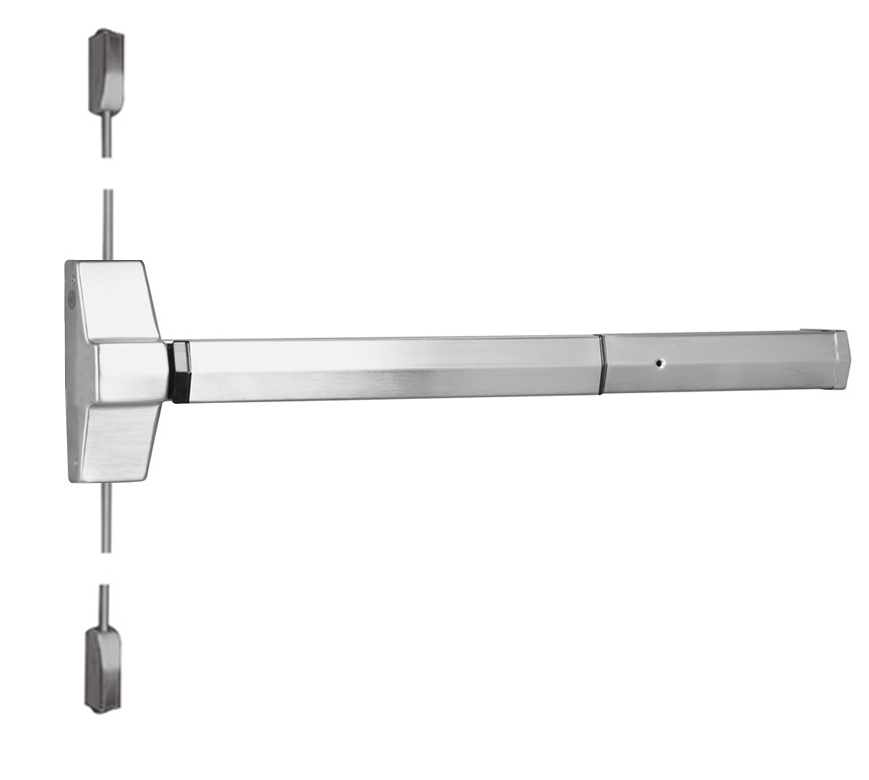Series 7100 Surface Vertical Rod Exit Device Stainless Steel