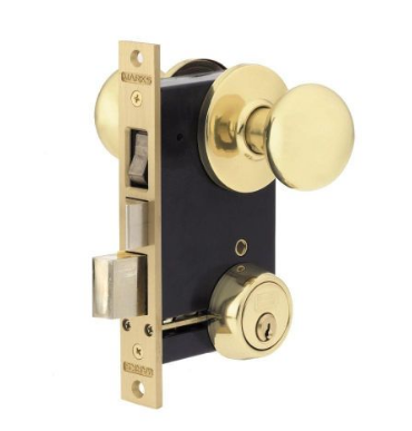 Marks Usa Ornamental Iron Mortise Lockset 22ac