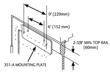 Sargent 351A EN Mounting Plate for 351 Series Door Closer