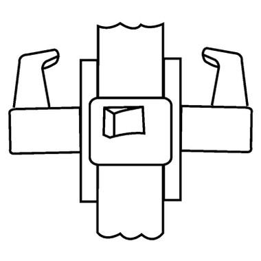 Corbin Russwin Unit Lock UT5210 ESE 626 RHR Passage