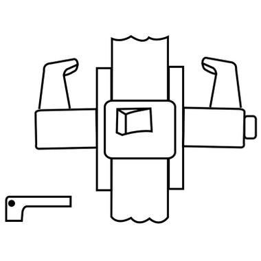 Corbin Russwin Unit Lock UT5220 ESE 626 LHR Privacy