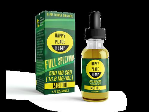 Happy Place Hemp - 500 mg (16.6 mg/mL) - 1 oz