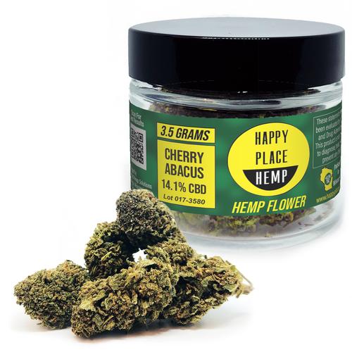 Happy Place Hemp - Cherry Abacus - 14.1% - 3.5 g Jar