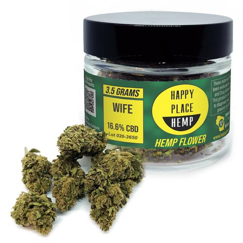 Happy Place Hemp - Wife - 16.6% - 3.5 g Jar