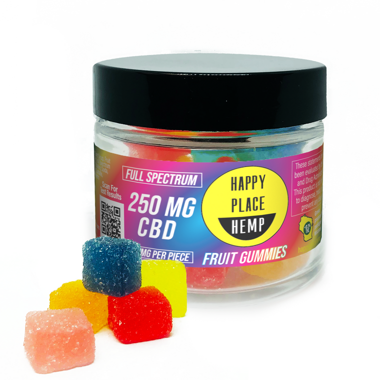 Happy Place Hemp - Full Spectrum CBD Gummies (25mg per piece)