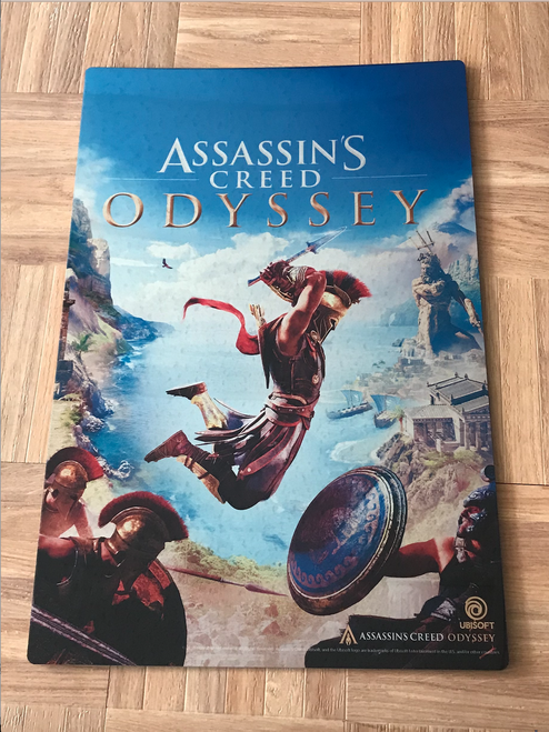 Metal print comes from the Officially Licensed art from Assassins Creed's new title Odyssey by Ubisoft.
