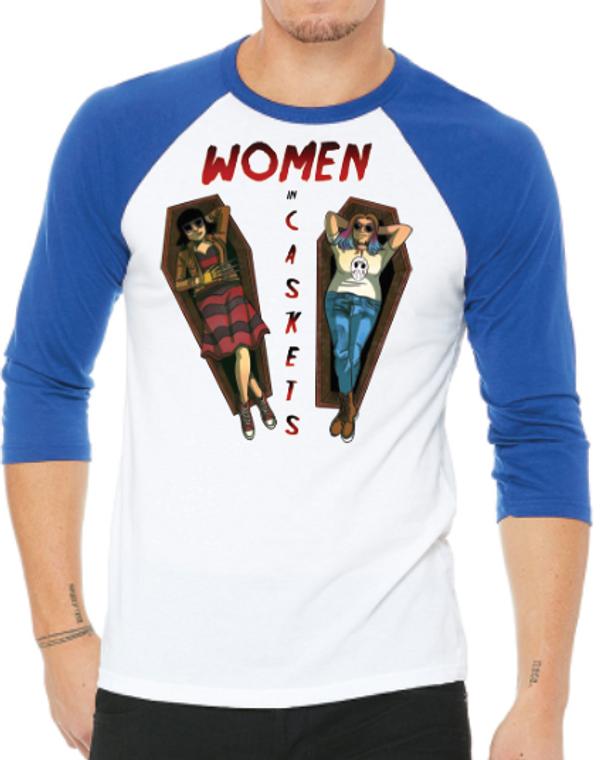 Women in Caskets Baseball Shirt