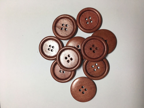 4 Holed Round Wood Buttons
