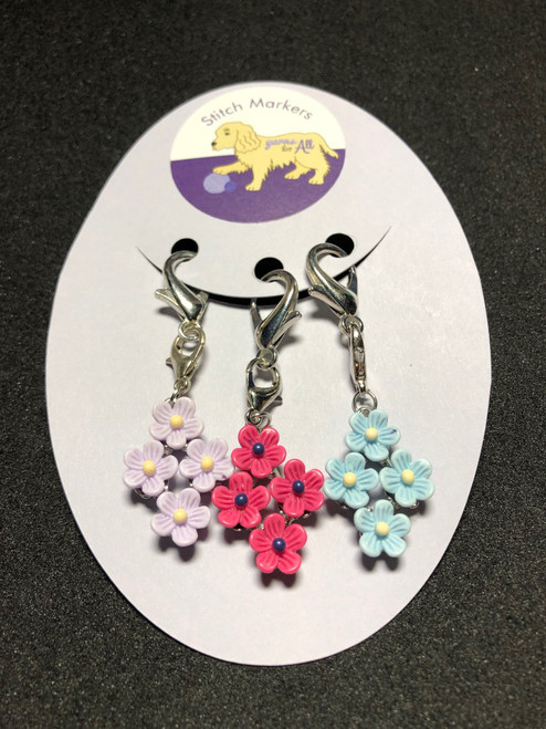 Stitch Markers-Flowers