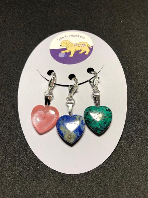 Stitch Markers-Heart Rocks