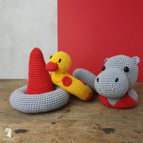 Crochet Amigurumi Kit-Helga Hippo