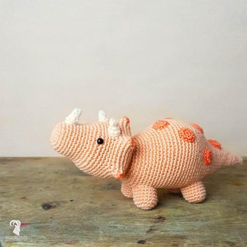 Crochet Amigurumi Kit-Dino Triceratops