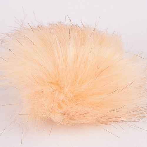 Pompom-Faux Fur-Light Brown