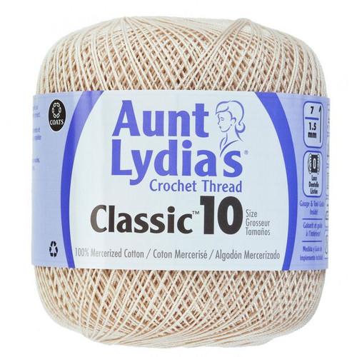 Aunt Lydia Crochet Cotton Size 10-Natural