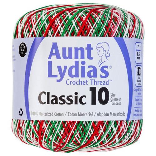 Aunt Lydia Crochet Cotton Size 10-Christmas