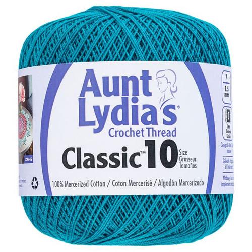 Aunt Lydia Crochet Cotton Size 10-Peacock