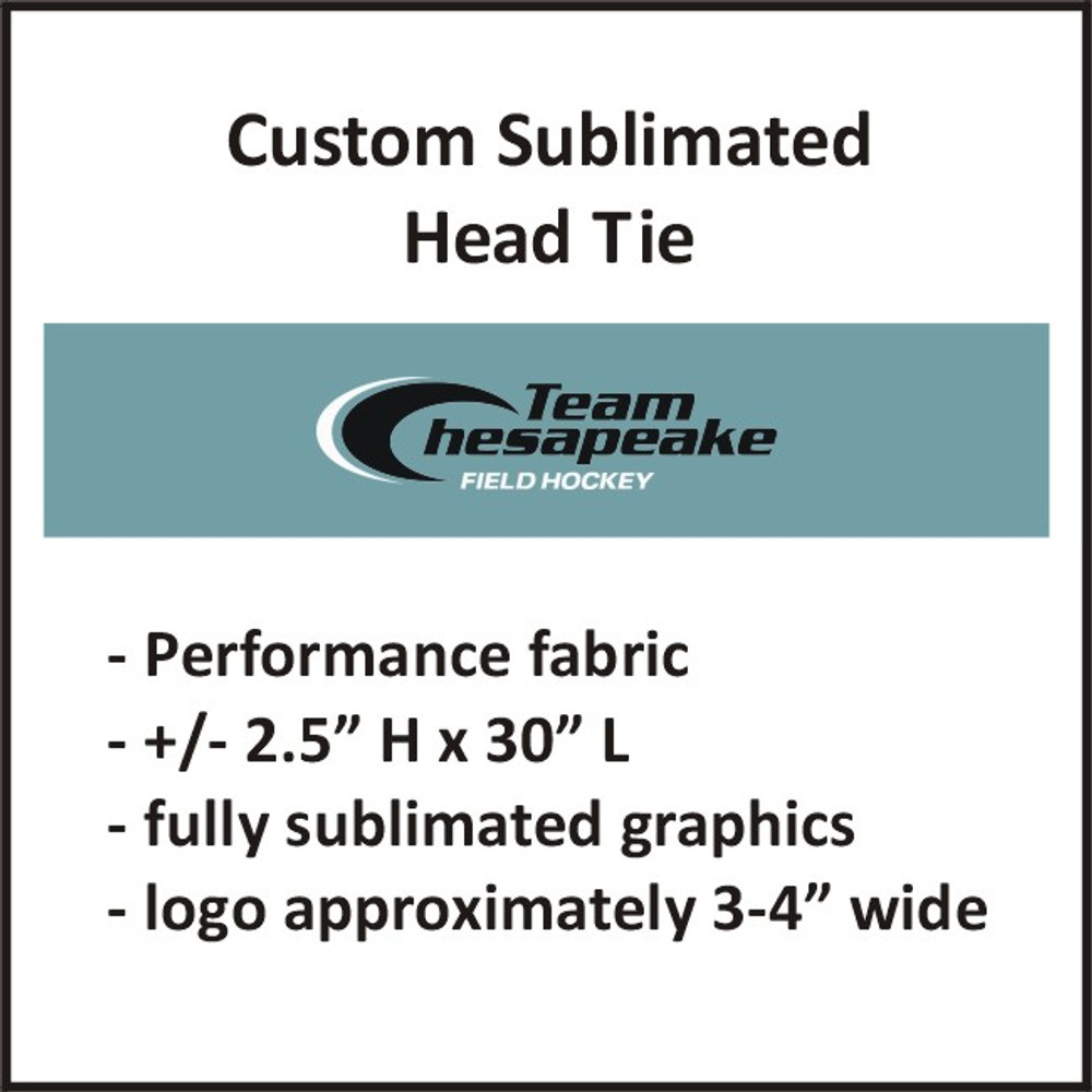 Team Chesapeake Sublimated Head Tie