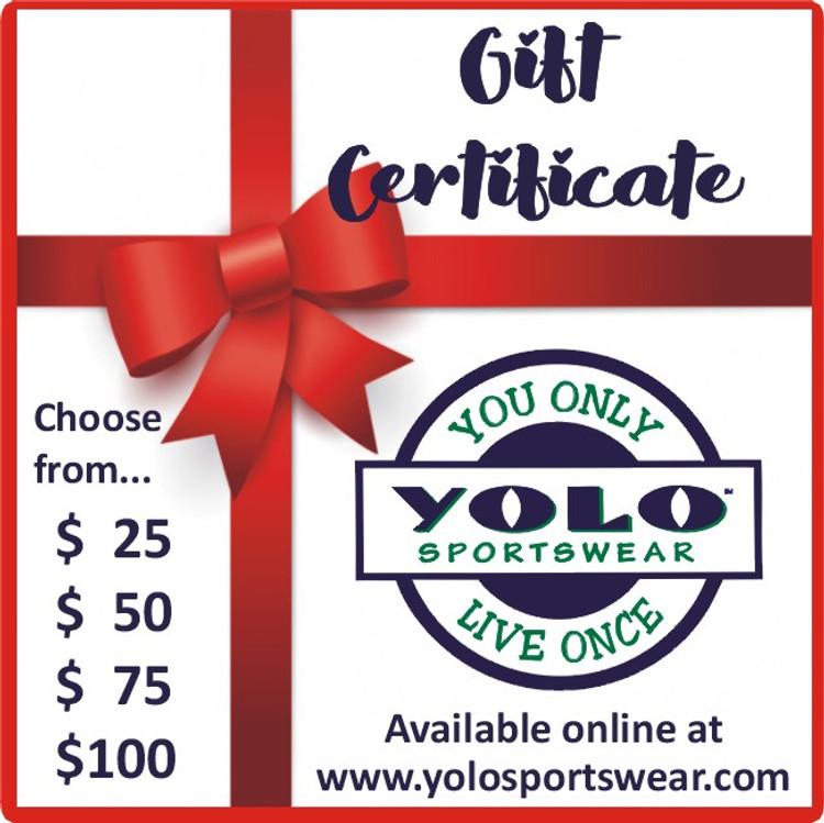 YOLO Sportswear Gift Certificates