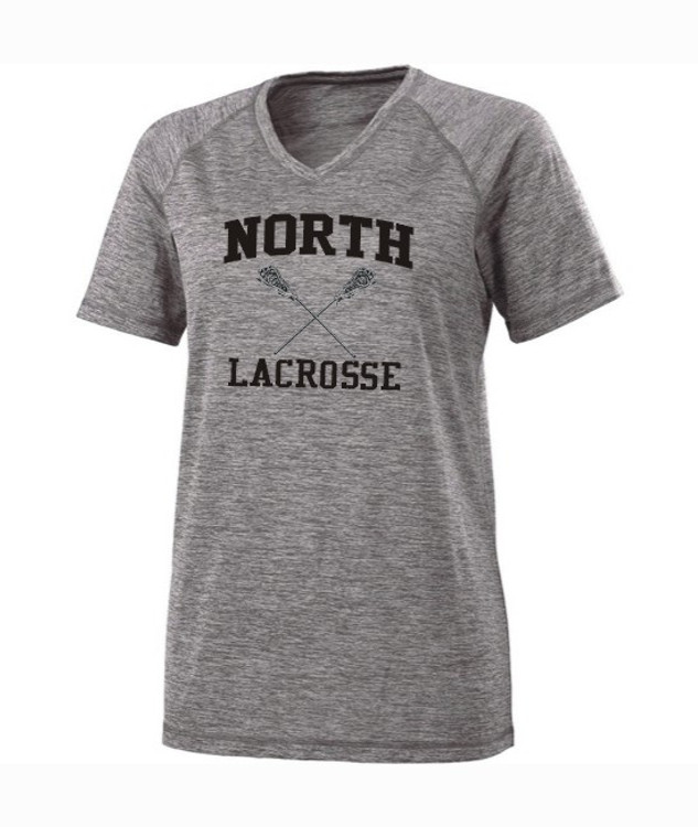 North MS Lacrosse Performance V-neck Tee