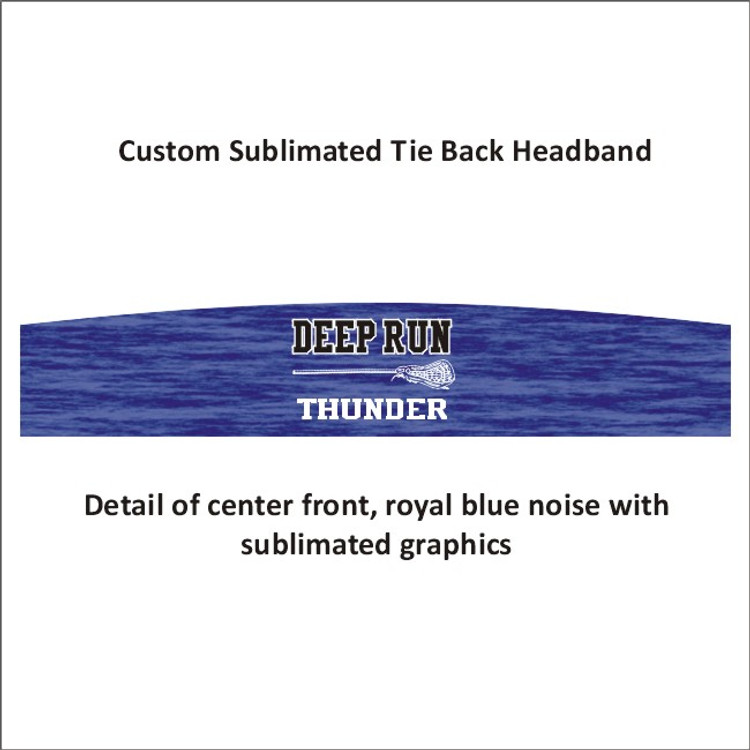 Deep Run Thunder Girls Lacrosse Tie-Back Headband