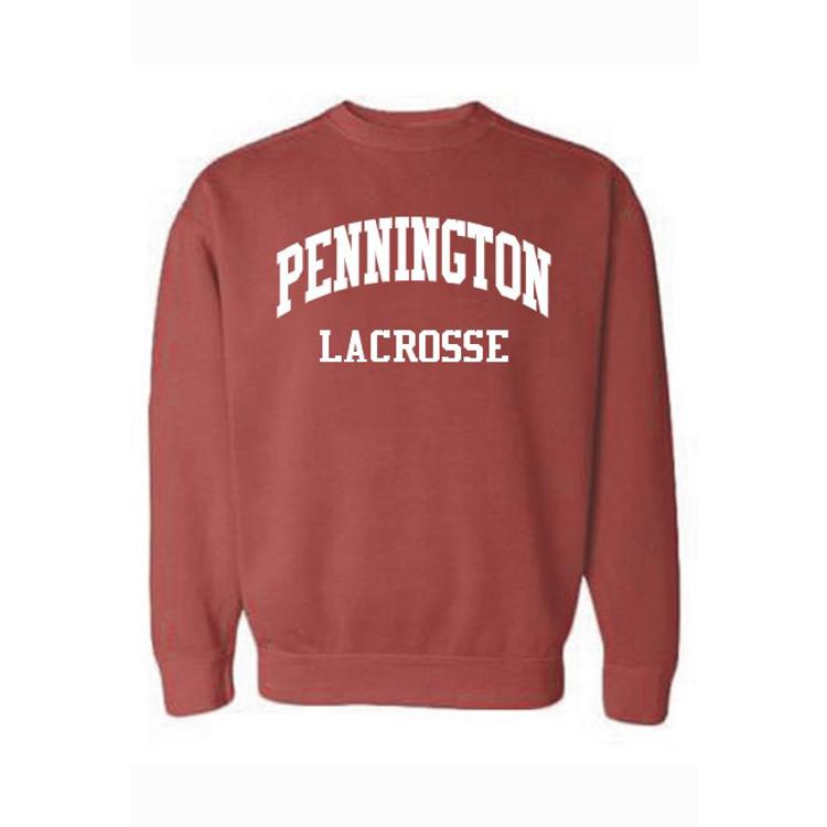 Pennington Lacrosse Garment Dyed Crewneck Sweatshirt