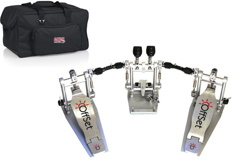 OffSet double bass drum pedal with soft case