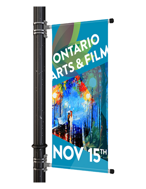 Pole Double Sided Banners
