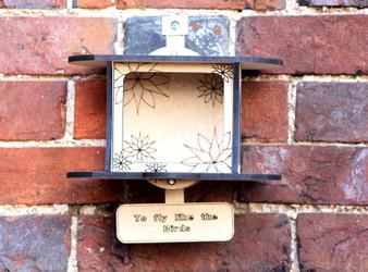 Barrow Wood - The Flower Bird Feeder (with personalisation)