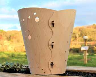 Wastepaper Basket 'Bubble' is designed and made by Cameron Furniture, Dorset on the Isle of Purbeck.