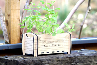 Large Herb Planter  - With option to perosnalise  on the front