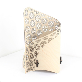 Flower of Life 'Source' left side wrap lamp , designed and made by Cameron Furniture, Isle of Purbeck, Dorset