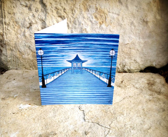 Swanage Pier - Greeting Card