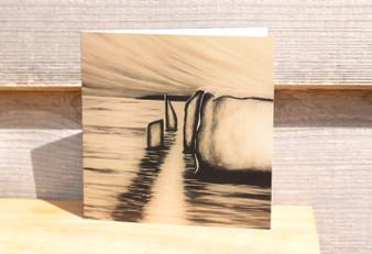 The Pinnacles  in Sepia - Greeting Card