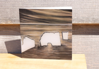 Old Harry Rocks in Sepia  - Greeting Cards
