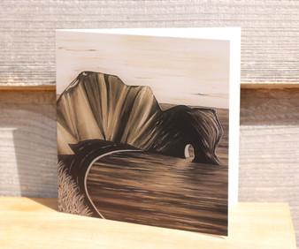 Durdle Door in Sepia - Greeting Card