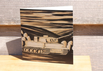 Tiger I in Sepia - Greeting Card
