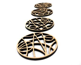 Maple set of 4 coasters