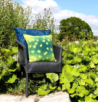 Maple  Cushion - Lime & Green