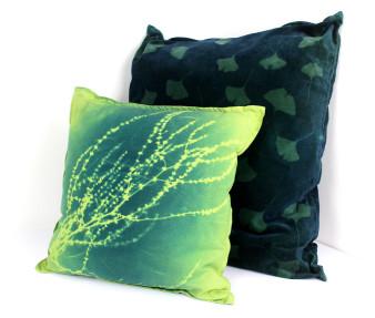 Sorrel  Cushion - Lime & Green