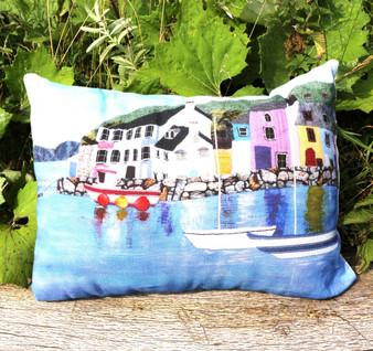 Weymouth Harbour - Rectangle Cushion by Carol Cruikshank