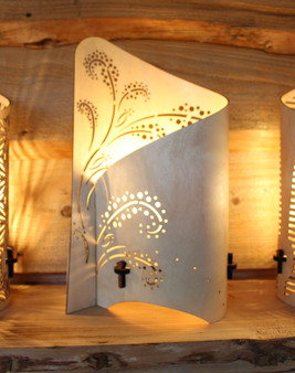 'Botanical Plume - Wrap Lamp'  left side wrap lamp , designed and made by Cameron Furniture, Isle of Purbeck, Dorset over 20 years of homeware design