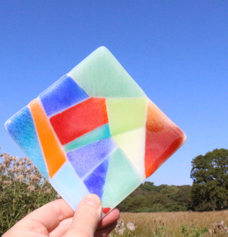 Abstract Glass - Square Dish by Galiani Glass