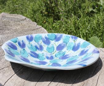 Tulip Print Platter by Jane Elmer-Smith