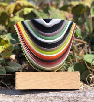 Liquorice Glass Vase by Aline Johnson
