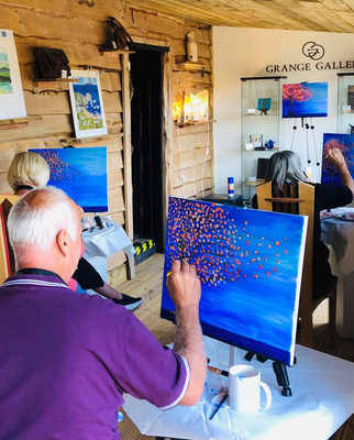 Grange Gallery Paint Class hosted by Esme James-Cameron